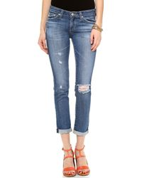 AG Adriano Goldschmied The Stilt Cigarette Roll Up Jeans - 18 Years Fly-Away - Lyst