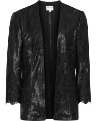 Reiss Cyrano Sequin Lace Jacket - Lyst
