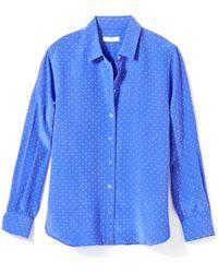Equipment 'Leema' Polka Dot Silk Shirt - Lyst