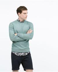 Zara Oxford Classic Sweatshirt blue - Lyst