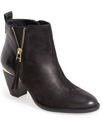 Steve Madden 'Wantagh' Leather Ankle Boot - Lyst