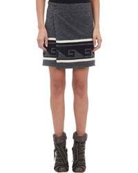 Isabel Marant Sienna Keypattern Wrap Skirt - Lyst