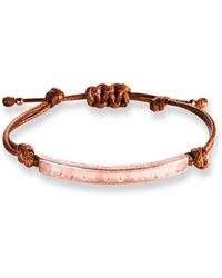 Ona Chan - Corded Bracelet With Rose Quartz - Lyst