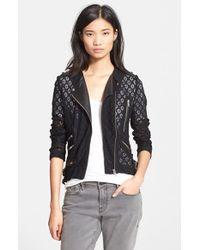The Kooples  Lace and Leather Jacket - Lyst