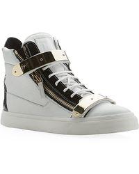 Giuseppe Zanotti Double Strap High-Top Sneaker - Lyst