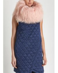 House of Holland - Pink Mongolian Fur Snood - Lyst