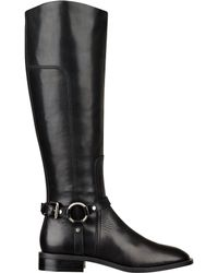 Nine West Batley Leather Riding Boots - Lyst