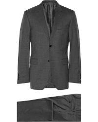 Gucci Grey Brera Slimfit Wool Suit - Lyst