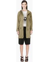 Marc By Marc Jacobs - Khaki Green Hooded Coat - Lyst