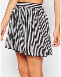 American Apparel Shirred Waist Skirt - Lyst
