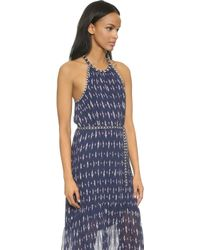 Joie Maryanna Printed Silk Maxi Dress blue - Lyst