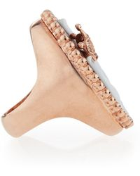 Amedeo - Royal Sardonyx Elephant Ring With Brown Diamonds - Lyst