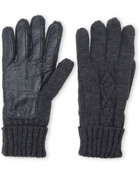 Izod Cable Knit Cuffed Gloves - Gray
