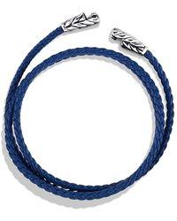 David Yurman Chevron Triplewrap Bracelet in Blue - Lyst