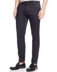 Calvin Klein Sateen Rivet Slim-Fit Pants - Lyst