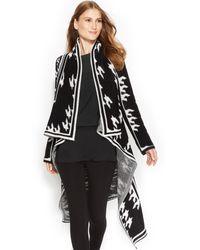 Calvin Klein Draped Sweater Coat - Lyst