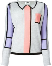 Sonia by Sonia Rykiel Intarsia Knit Sweater - Lyst