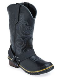 Sorel 'Slimwestern' Waterproof Boot black - Lyst
