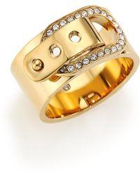 Michael Kors Cityscape Hardware Pavé Buckle Band Ring/Goldtone gold - Lyst