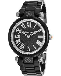 Christian Lacroix - Women's Black Acetate Ip Ss And Dial Acetate - Lyst