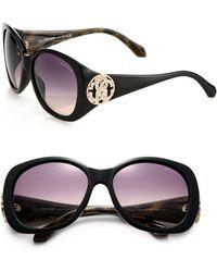 Roberto Cavalli Oversized 58Mm Round Sunglasses - Lyst