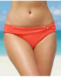 Lauren by Ralph Lauren Ruched Sash Hipster Bikini Bottom - Lyst