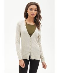 Forever 21 Classic V-Neck Cardigan - Lyst