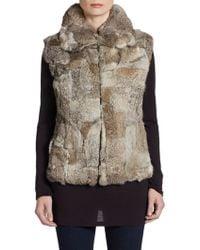 Saks Fifth Avenue Black Label Rabbit Fur Vest - Lyst