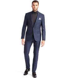 Hugo Boss Tharvers Glover  Slim Fit Super 130 Virgin Wool and Silk Suit - Lyst