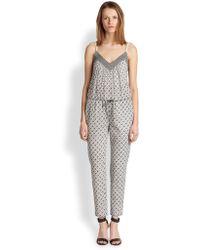 Cardigan | Regine Printed Cotton Voile Jumpsuit | Lyst