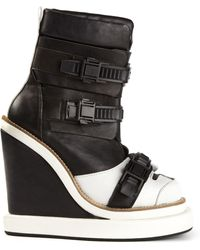 KTZ - Buckled Wedged Boots - Lyst