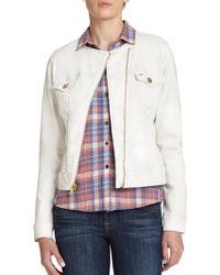 True Religion Pearlized Denim Jacket - Lyst