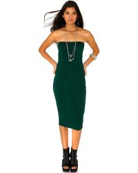 Missguided Lidya Bandeau Midi Dress in Deep Green - Lyst