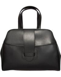 Comme Des Garçons Small Leather Look Bowler Bag Black - Lyst