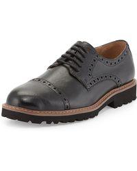 Joseph Abboud Edward Captoe Laceup Leather Brogue Black 8 - Lyst