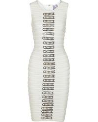 Hervé Léger Embellished Bandage Dress - Lyst