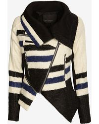 Yigal Azrouel Elongated Striped Jacket - Lyst