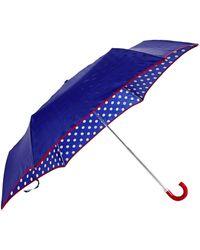 Lulu Guinness Superslim Spot Umbrella blue - Lyst