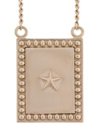 Givenchy - Gold Frame Pendant Necklace - Lyst