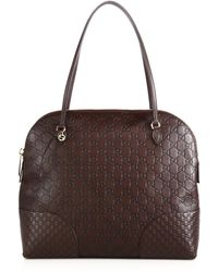 Gucci Bree Ssima Leather Shoulder Bag brown - Lyst