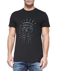 Diesel Crewneck Tee with Studded Eye - Lyst