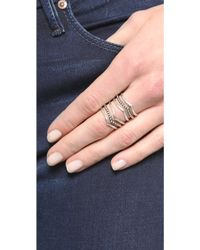 Sunahara - Statement V Ring - Silver - Lyst