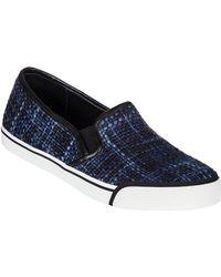 Alice + Olivia Piper Slip-On Sneaker Dark Navy Fabric - Lyst