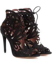 Tabitha Simmons Nina Suede Sandals - Lyst