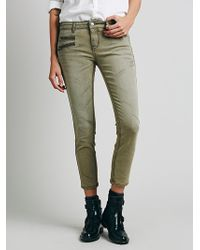 Free People Either Direction Zip Ankle Skinny - Lyst