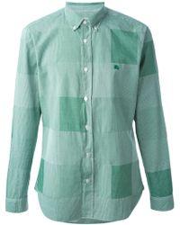 Burberry Brit Micro Check Print Shirt - Lyst