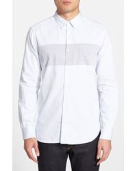 French Connection Slim Fit Chambray Sport Shirt - Lyst