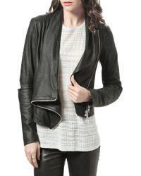 Helmut Lang Kiln Drape Leather Jacket black - Lyst