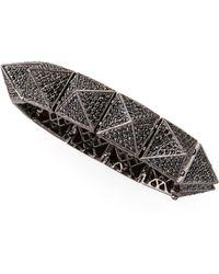 Eddie Borgo - Large Pave Pyramid Bracelet - Lyst