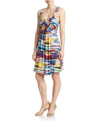 Spense - Watercolor A-Line Dress - Lyst